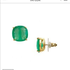 Green Kate spade earrings in perfect condition.
